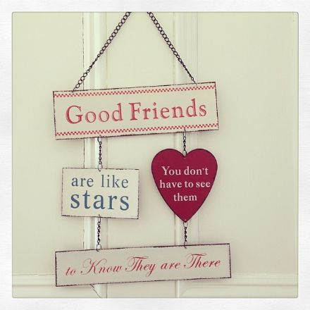50% OFF - Friends Are Like Stars Metal sign